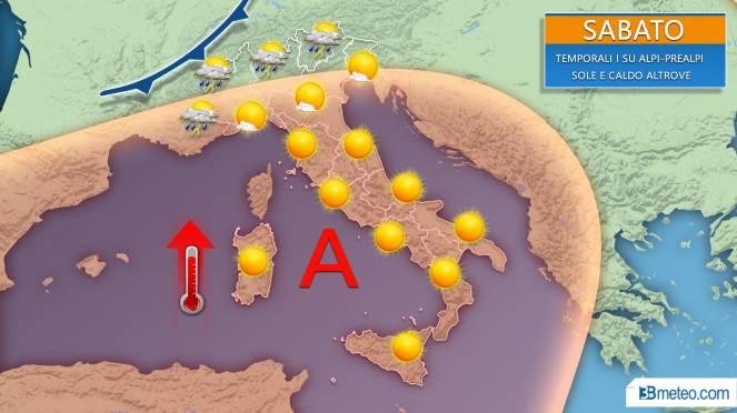 Meteo Weekend, Sabato e domenica con qualche temporale su Alpi e Prealpi