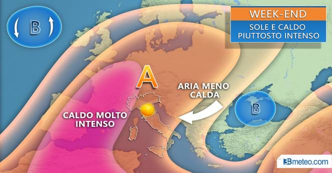 Meteo weekend, temperature meno elevate ma caldo spesso afoso