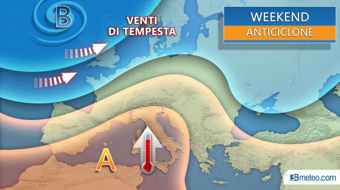 Meteo Weekend torna l'anticiclone sub tropicale con tempo stabile e temperature in aumento