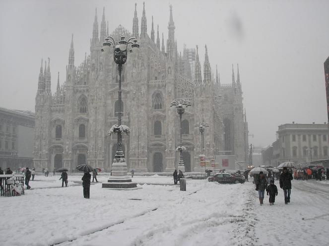 Milano sotto la neve (Fonte immagine: milanoevents.it)