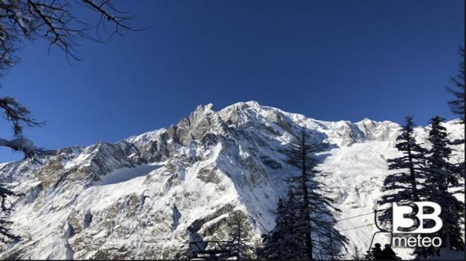 Monte Bianco, foto di repertorio