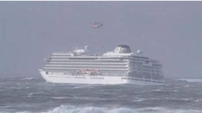 nave crociera in avaria in Norvegia