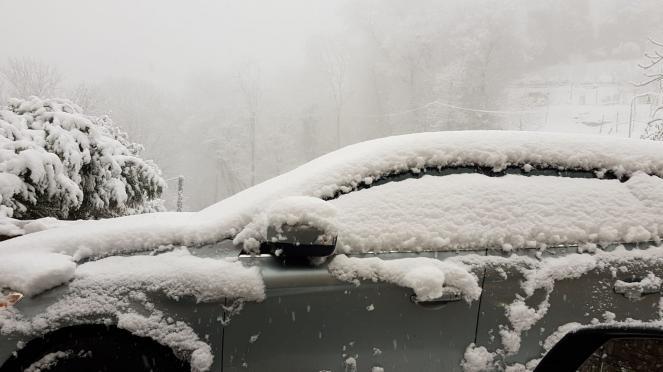 Neve a Bergamo Alta