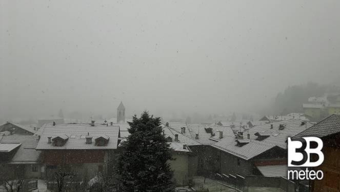 Neve a Caderzone Terme, Trentino