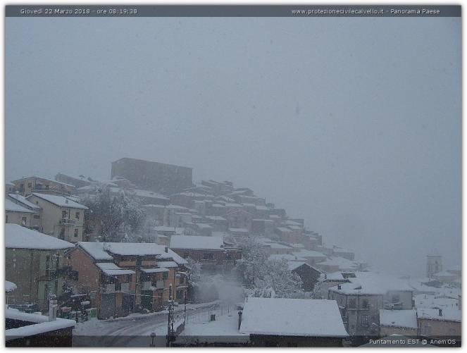 Neve a Calviello, potentino
