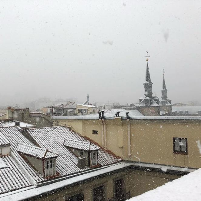 Neve a Madrid da un tweet di @VictorSaulFdez
