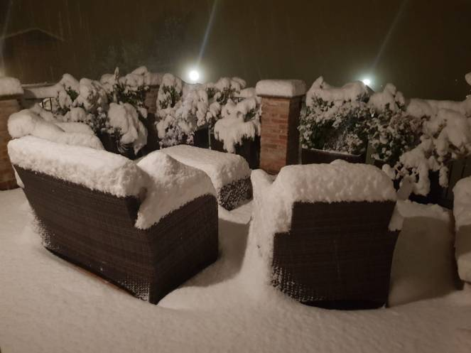 Neve a Vicoforte Mondovì (CN)