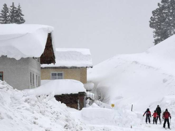 Neve abbondante in Europa centrale, fonte Corriere.it