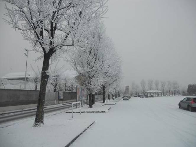 Neve chimica in Val Padana in un immagine di archivio