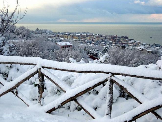 Neve fin sulle spiagge adriatiche nel dicembre 1996