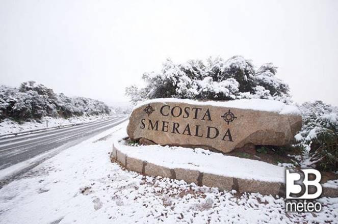 Neve in costa Smeralda
