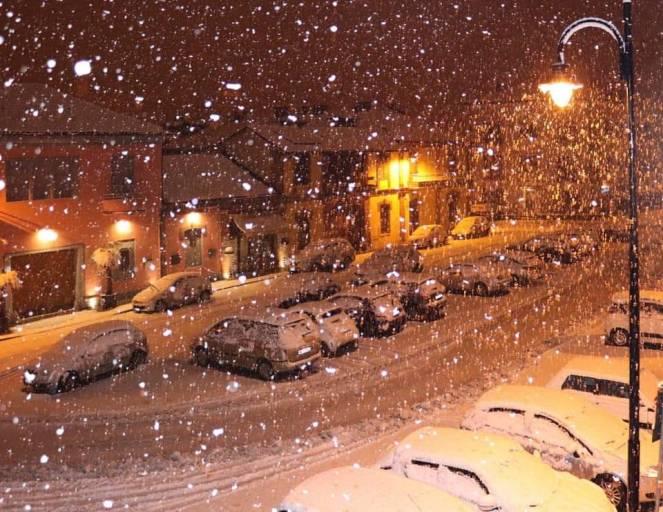 Neve intensa a Mondovì (CN)