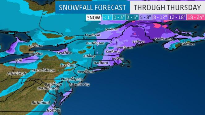 Neve prevista - weather.com