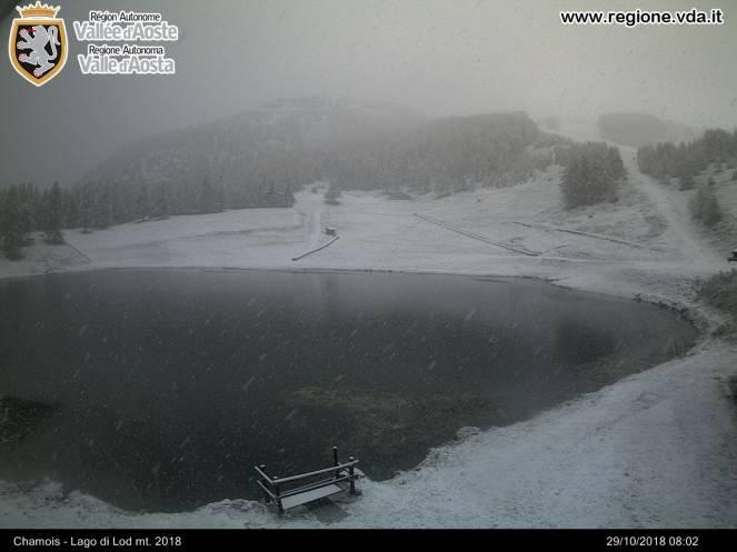 Nevica a Chamois (AO)