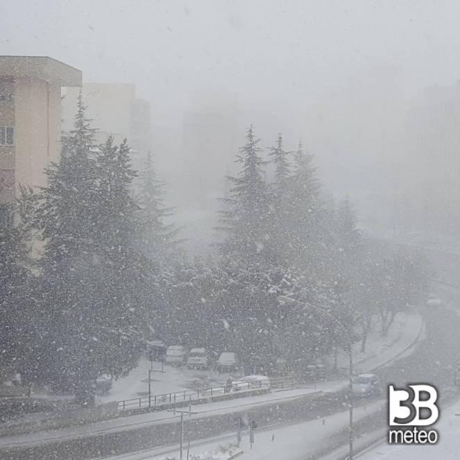 Nevica a Potenza