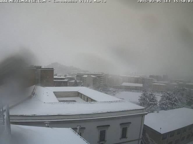 Nevica bene anche a Campobasso