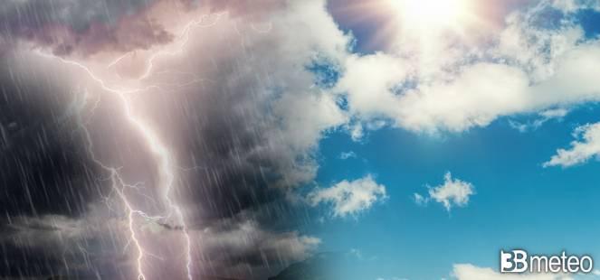 Non solo gran caldo in settimana ma anche forti temporali