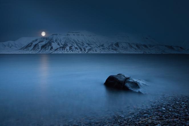Notte polare all'interno del Circolo polare artico