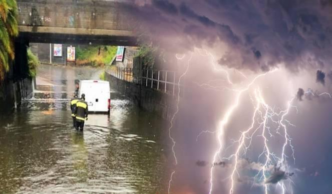 Nubifragi e temporali nella notte tra bassa Toscana e Lazio