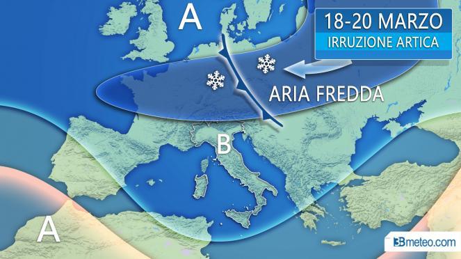 Nuova irruzione fredda in vista per l'Europa