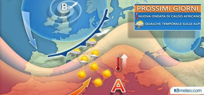 Nuova ondata di caldo nei prossimi giorni