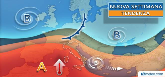 NUOVA SETTIMANA tra ANTICICLONE delle AZZORRE e locale instabilità, i dettagli