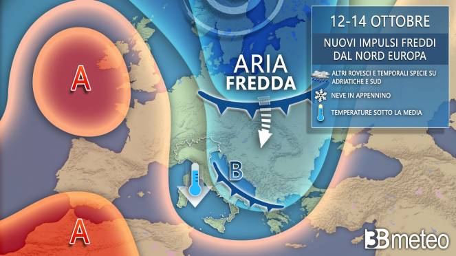 Nuova settimana con altro impulso freddo in arrivo dalla Scandinavia