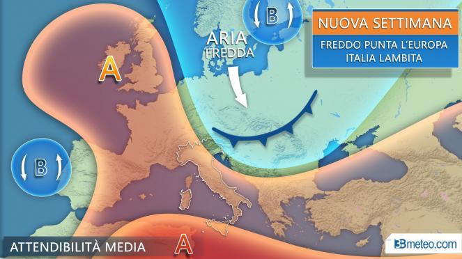 Nuova settimana, il freddo punta l'Europa orientale, Italia lambita