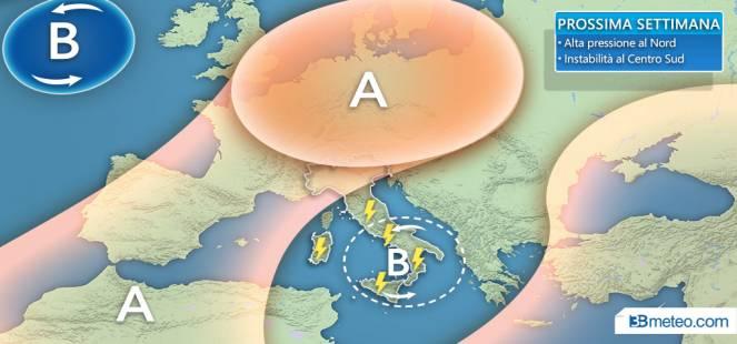 Nuova settimana: più sole al Nord, a tratti instabile al Centro-Sud