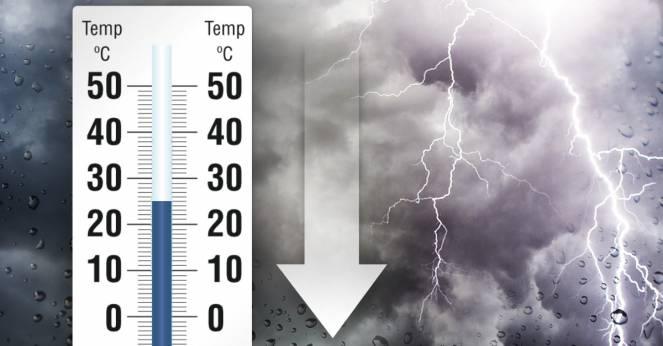 Nuova settimana, tracollo termico a suon di temporali