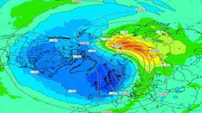 nuovo riscaldamento della stratosfera polare