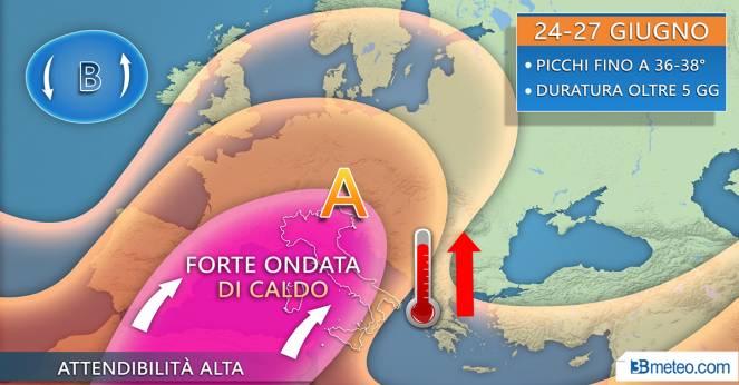 Onda di calore nordafricana dalla prossima settimana