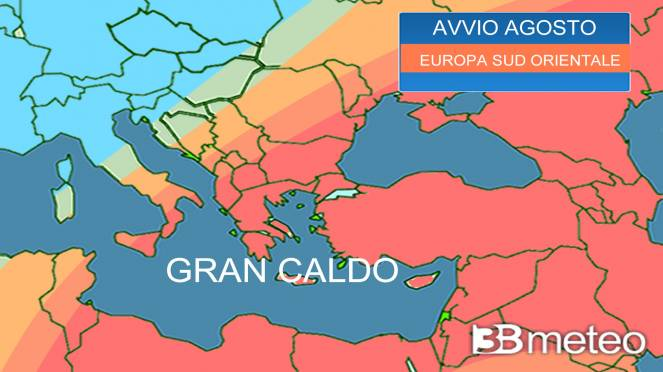 ondata di caldo nel Sud Est Europa
