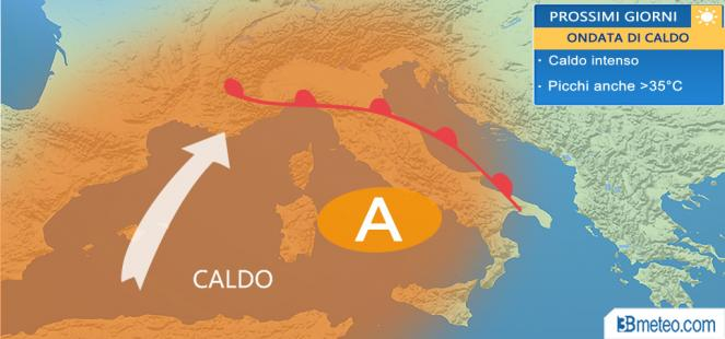 ondata di caldo sull'Italia
