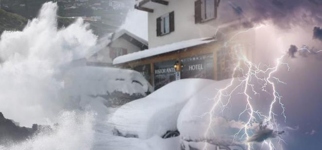 Ondata di maltempo sull'Italia con piogge, temporali e neve in Appennino