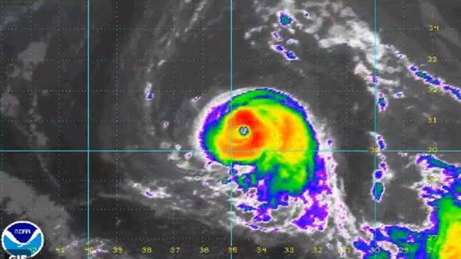 Ophelia, uragano di categoria 2. Fonte immagine Noaa