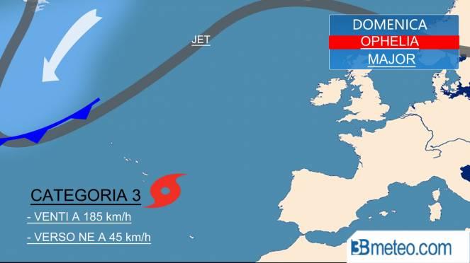Ophelia sull'Irlanda: impatto violento con venti fino a 130 km/h