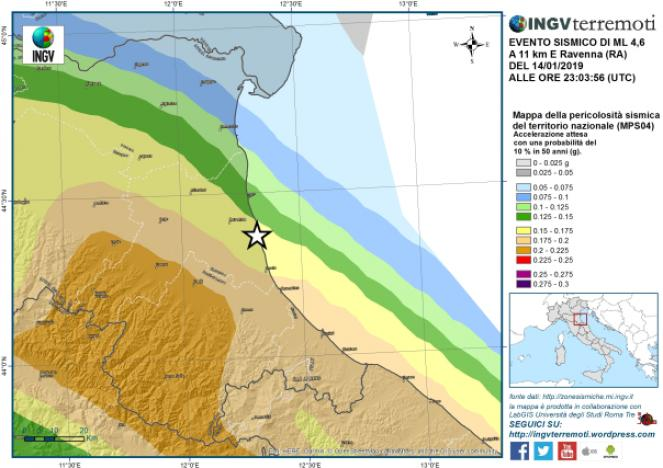 Cartina Emilia Romagna E Marche.Terremoto Nel Nord Italia Forte Scossa Di Magnitudo 4 6 In