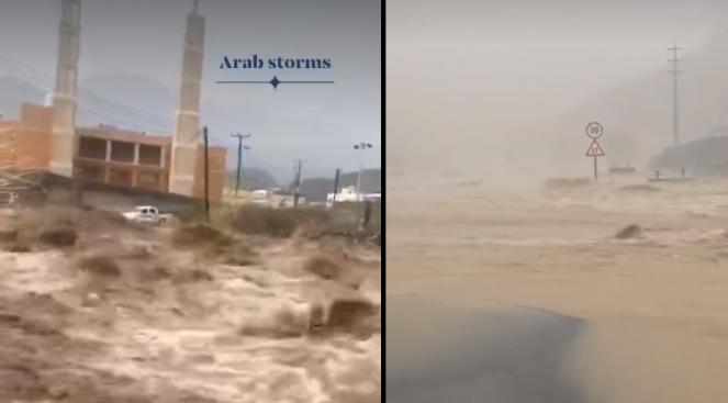 Piogge alluvionali colpiscono gli Emirati Arabi