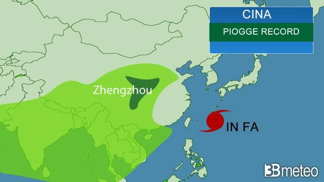 Piogge record in Cina