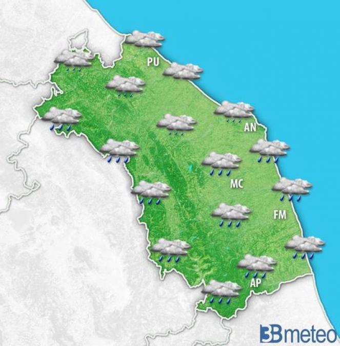 Piogge residue nella mattina di giovedì. Temperature in netto calo