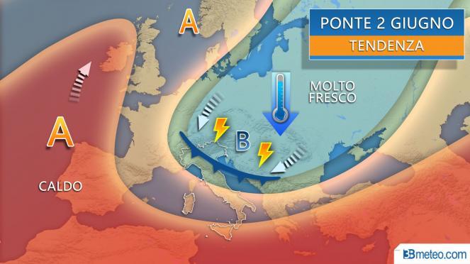 Ponte del 2 giugno a rischio temporali sull'Italia