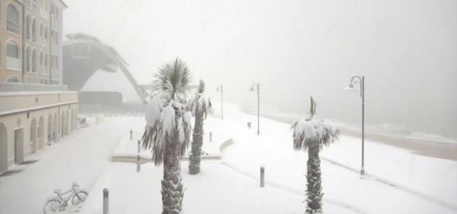 Porto Recanati sepolta dalla neve