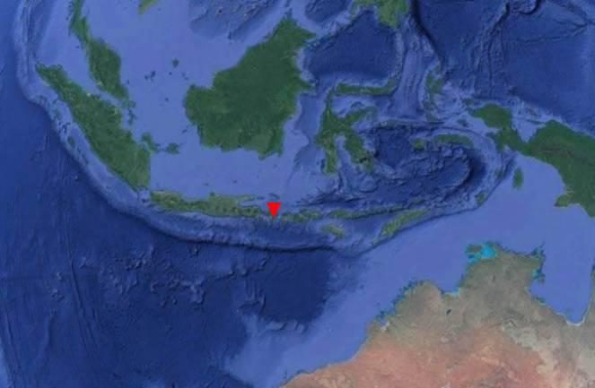 Posizione del Monte Agung nell'arcipelago indonesiano