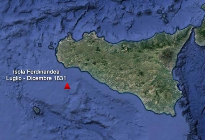 Posizione dell'Isola Ferdinandea