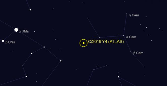 Posizione di Atlas aggiornata al 5 aprile 2020