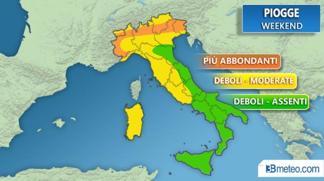 Piogge in Piemonte: allerta gialla in gran parte della regione