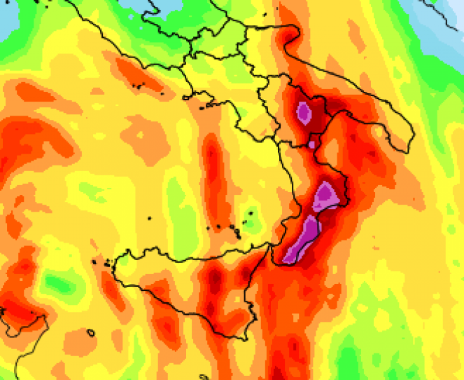 Precipitazioni previste tra lunedì e martedì
