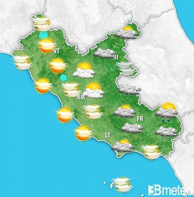 Primo maggio, tempo al pomeriggio sul Lazio.