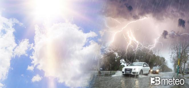 Prossimi giorni ancora rischio piogge e temporali su parte della Penisola